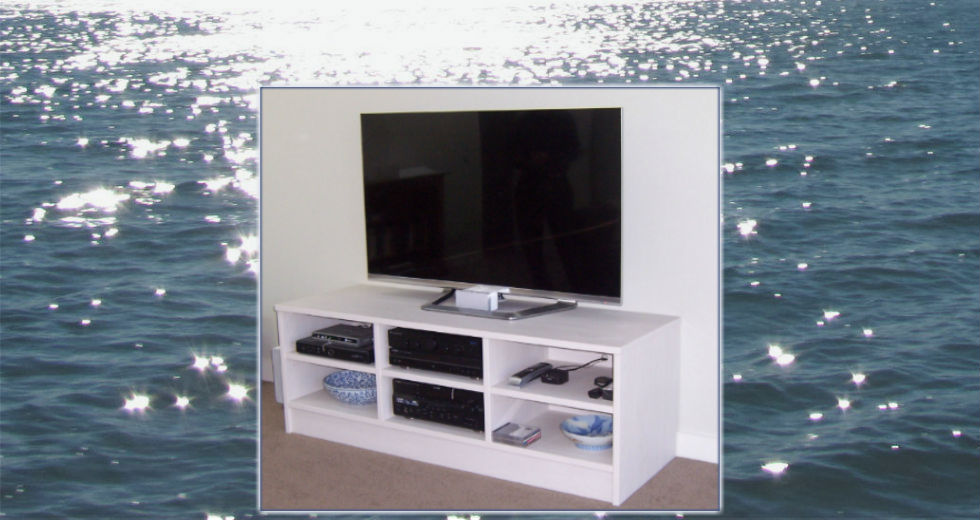 Home entertainment unit for television and accessories