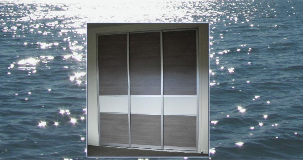 Panel doors on a wardrobe