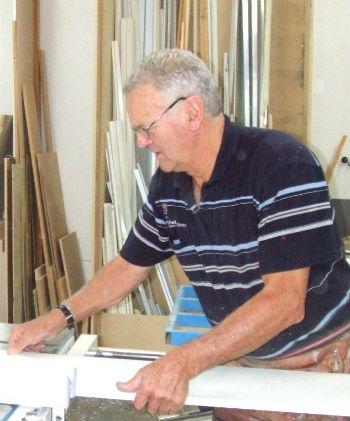 Kelvin Inskeep in the workshop