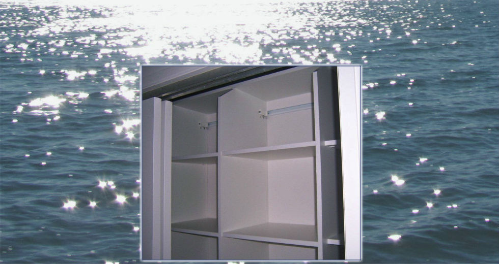 Wardrobe cut to allow easy access to top shelf