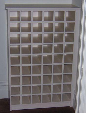 Large white custom wine rack